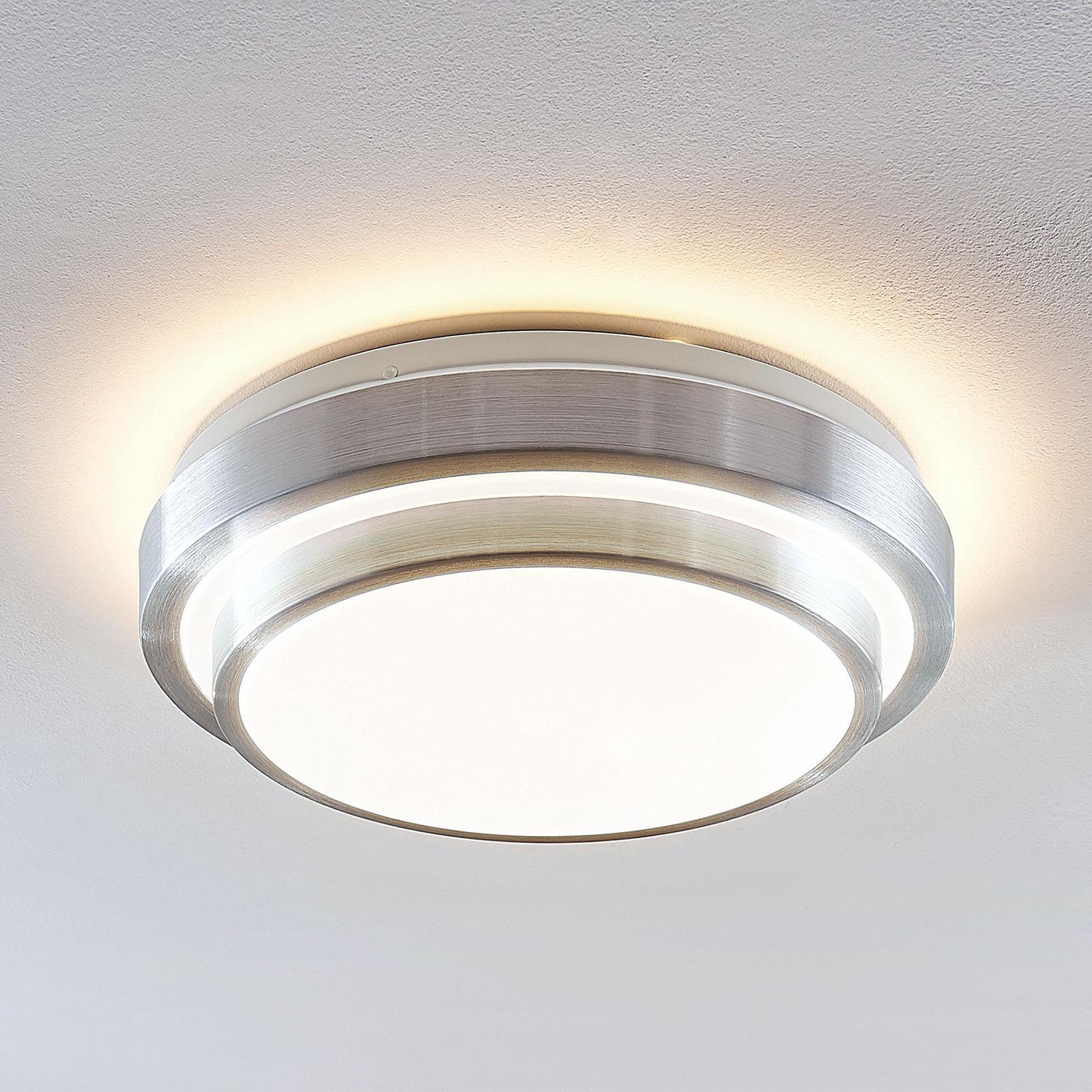 Lindby Naima lámpara de techo LED, redonda 34 cm