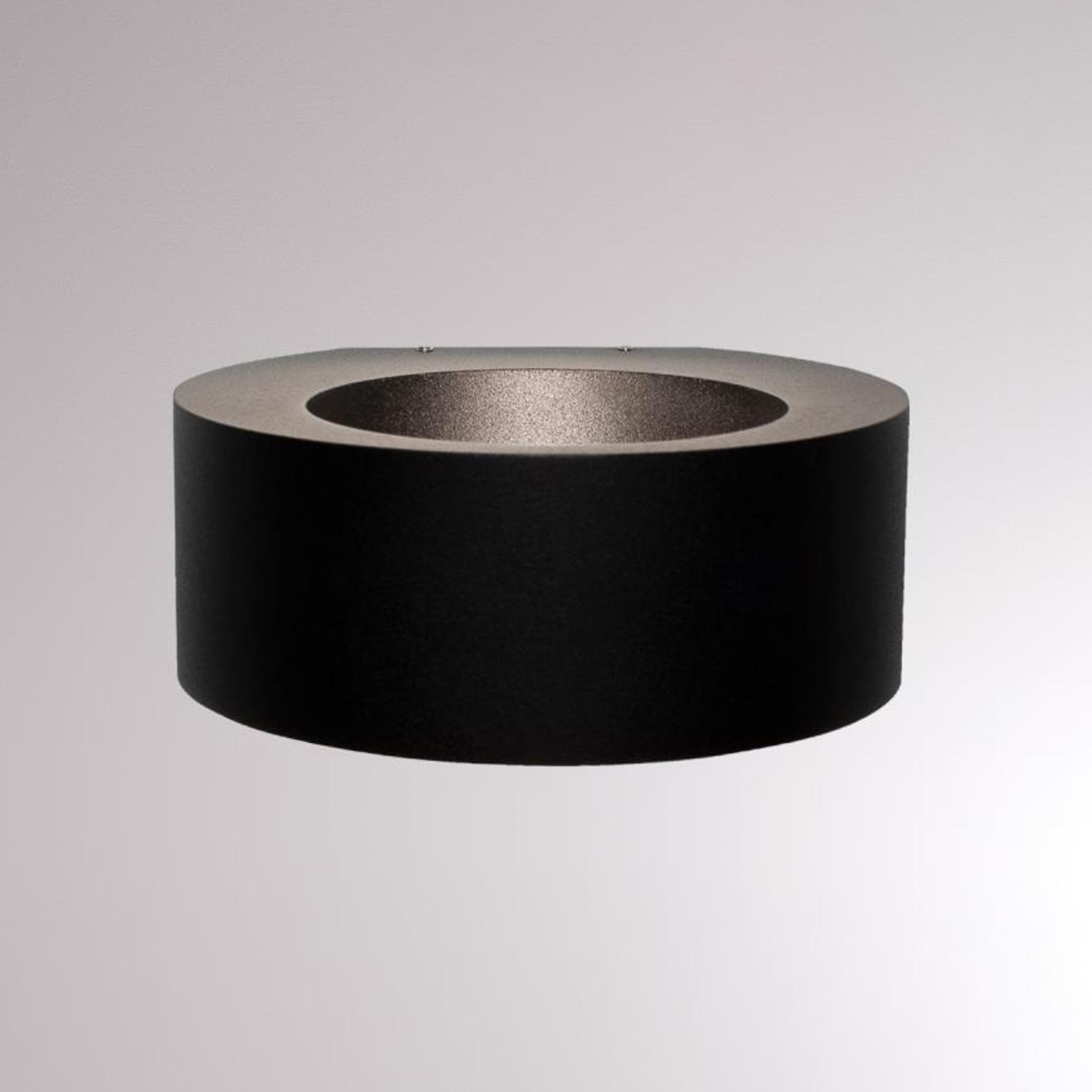 LOUM Eyo utendørs LED-vegglampe svart