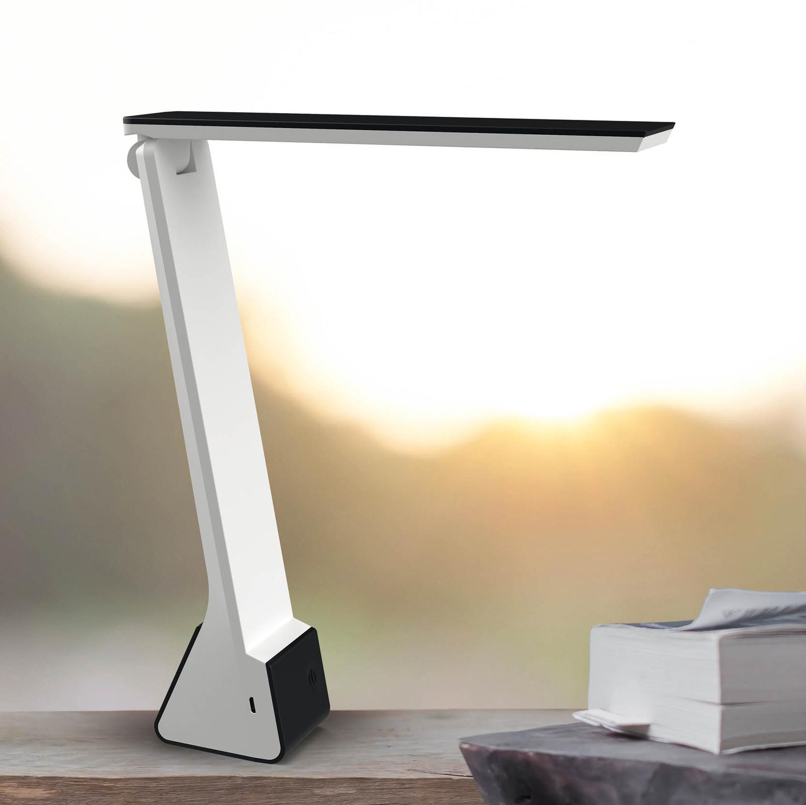 LED-skrivbordslampa MAULseven med batteri, svart
