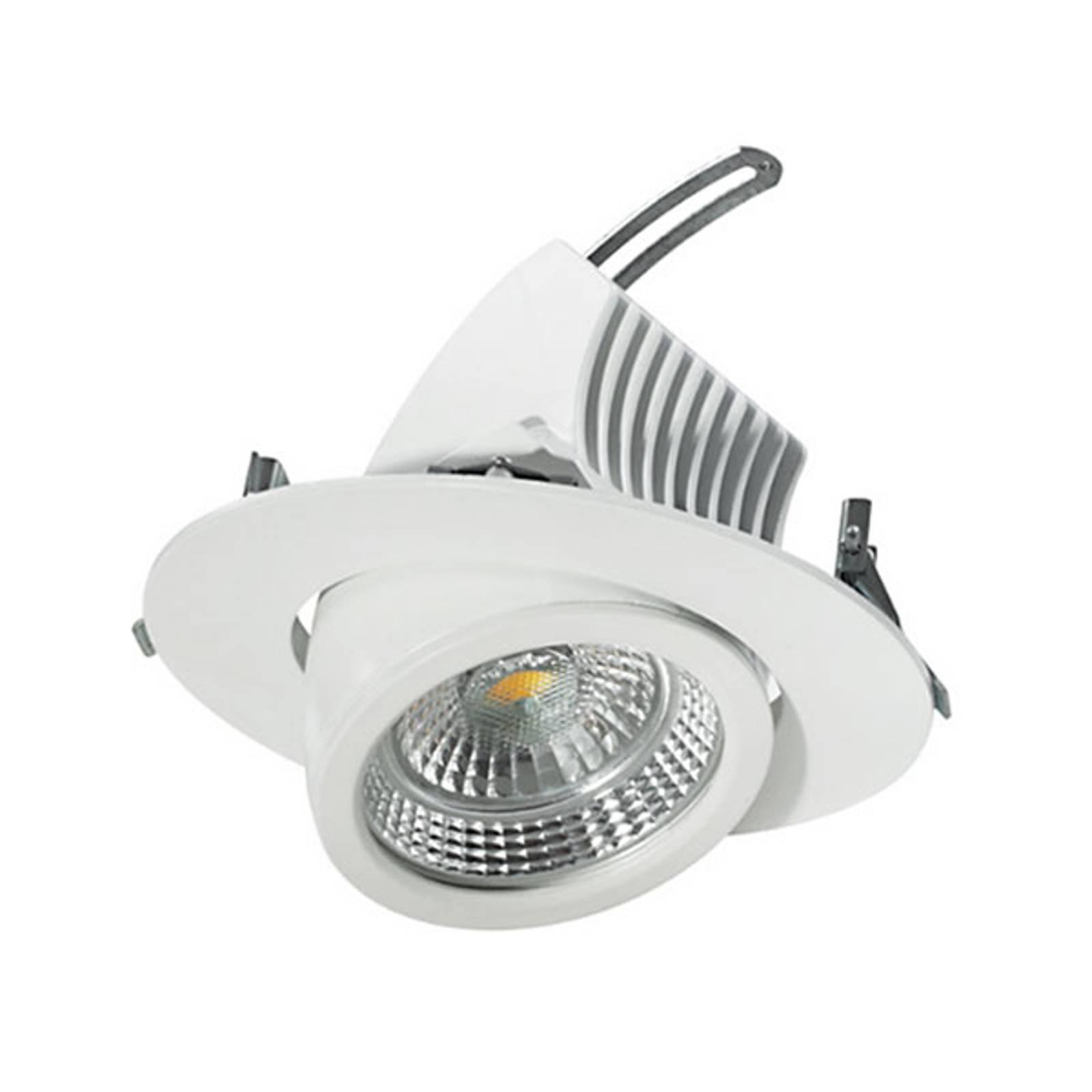 Spot encastrable LED pivotant 15cm, 18W