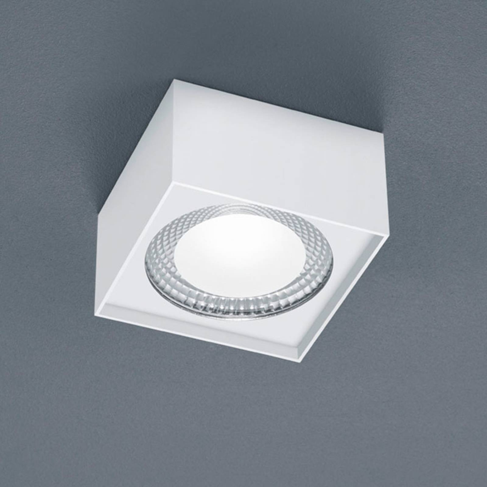 Helestra Kari plafoniera LED, angolare, bianco