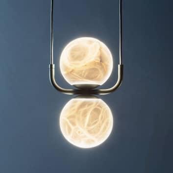 LED-hänglampa Tribeca med alabaster 2 lampor