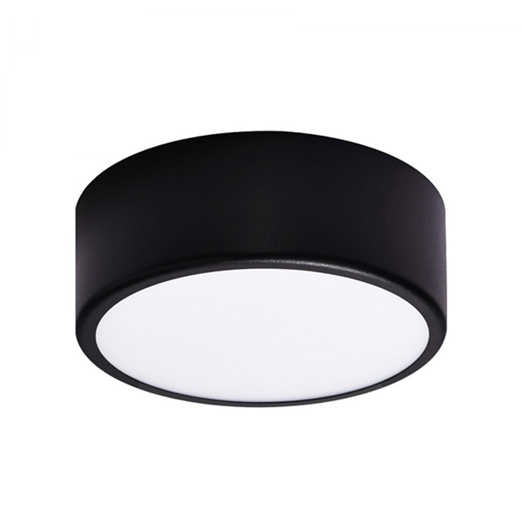 Lampa sufitowa Cleo, Ø 20cm, czarna
