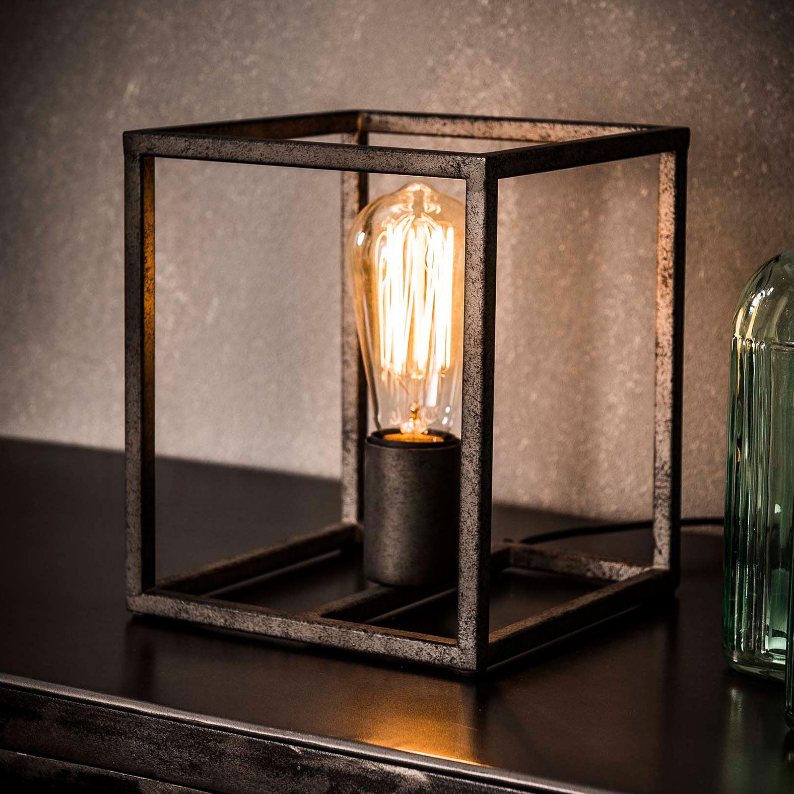 Lámpara de mesa Perpendillumina en forma de cubo