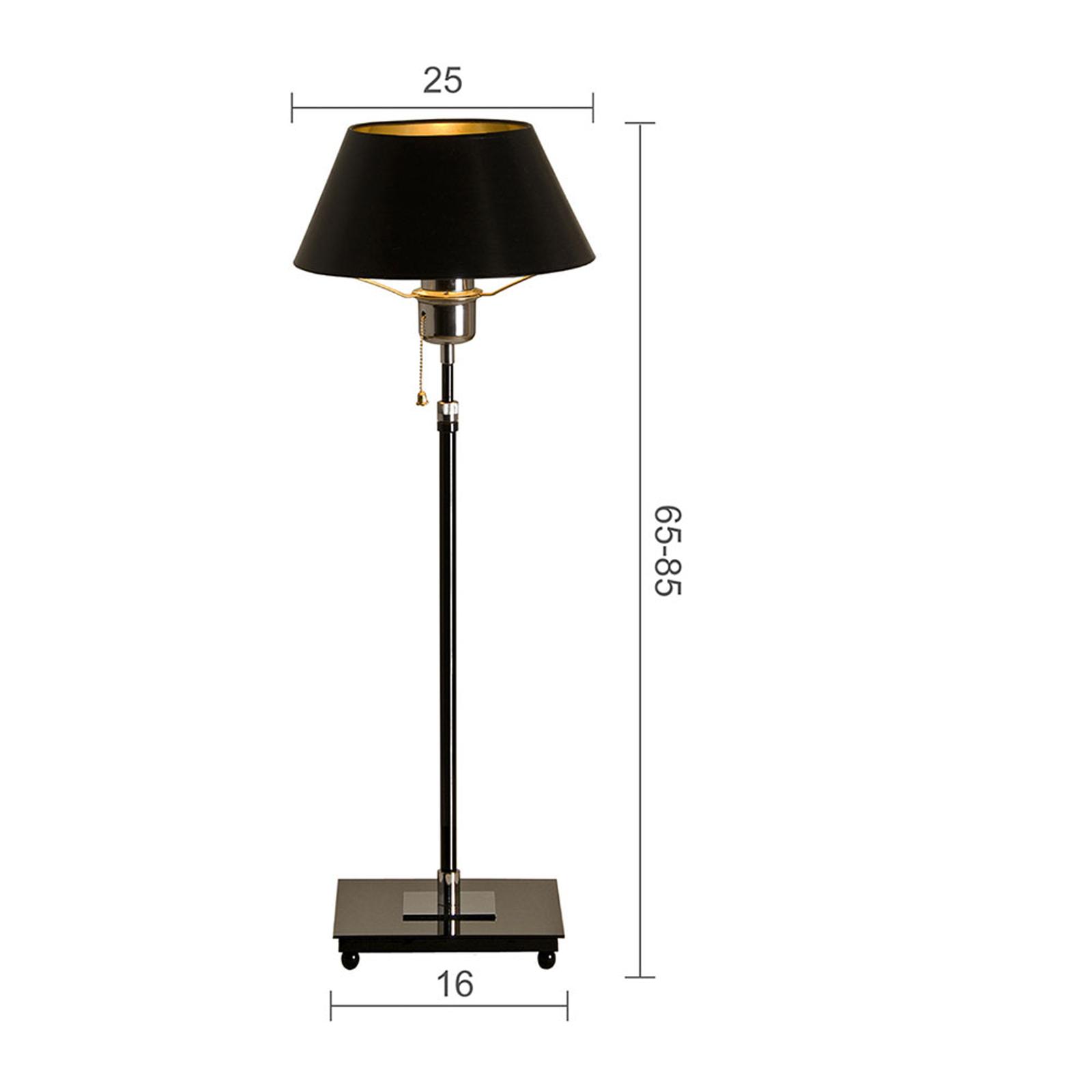 Menzel Antos AF4125 tafellamp, kap zwart