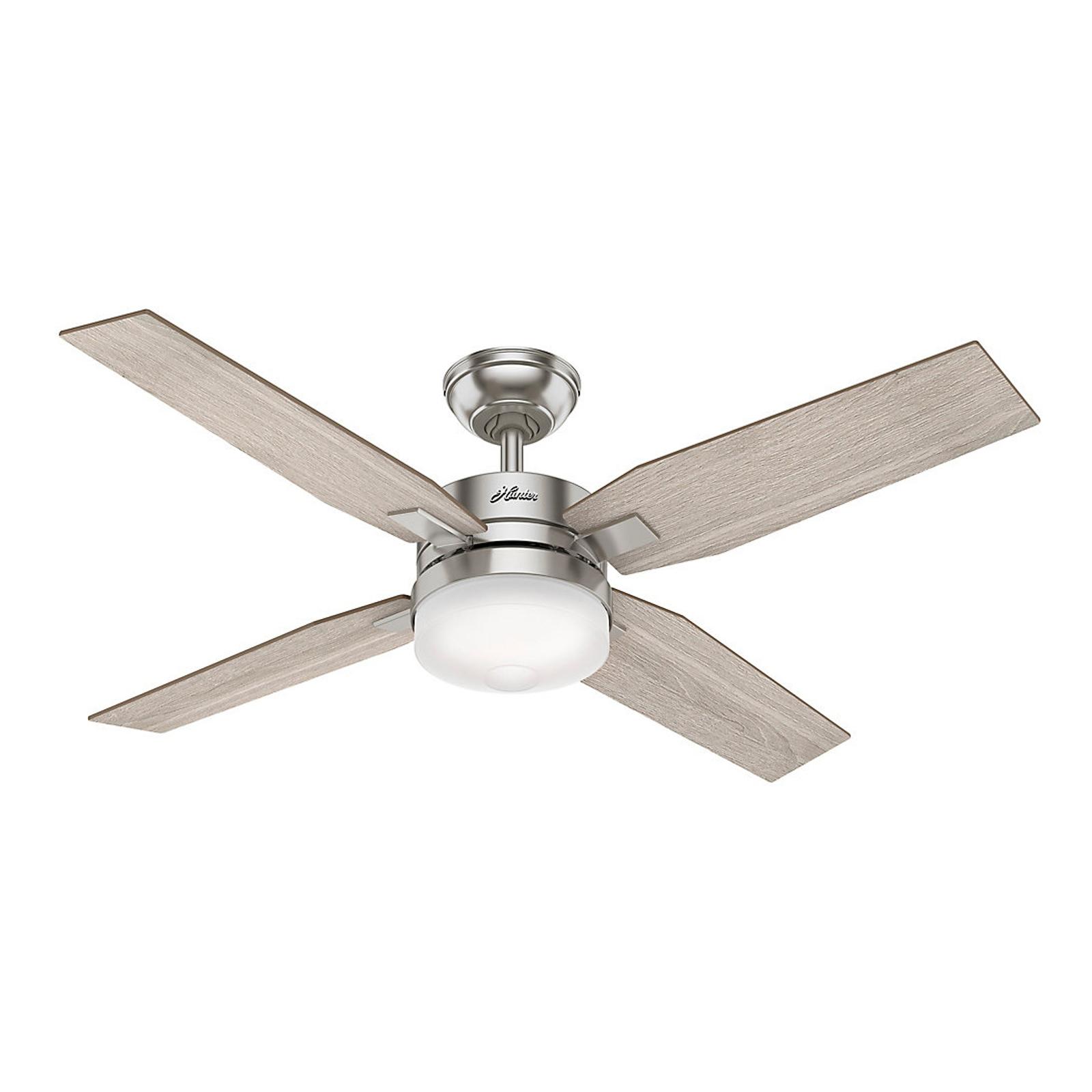 Hunter Mercadi ventilateur de plafond chêne/nickel