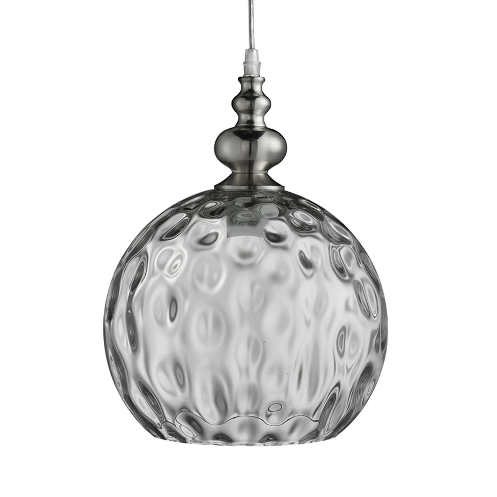 Srebrna lampa wisząca Indiana w antycznym stylu