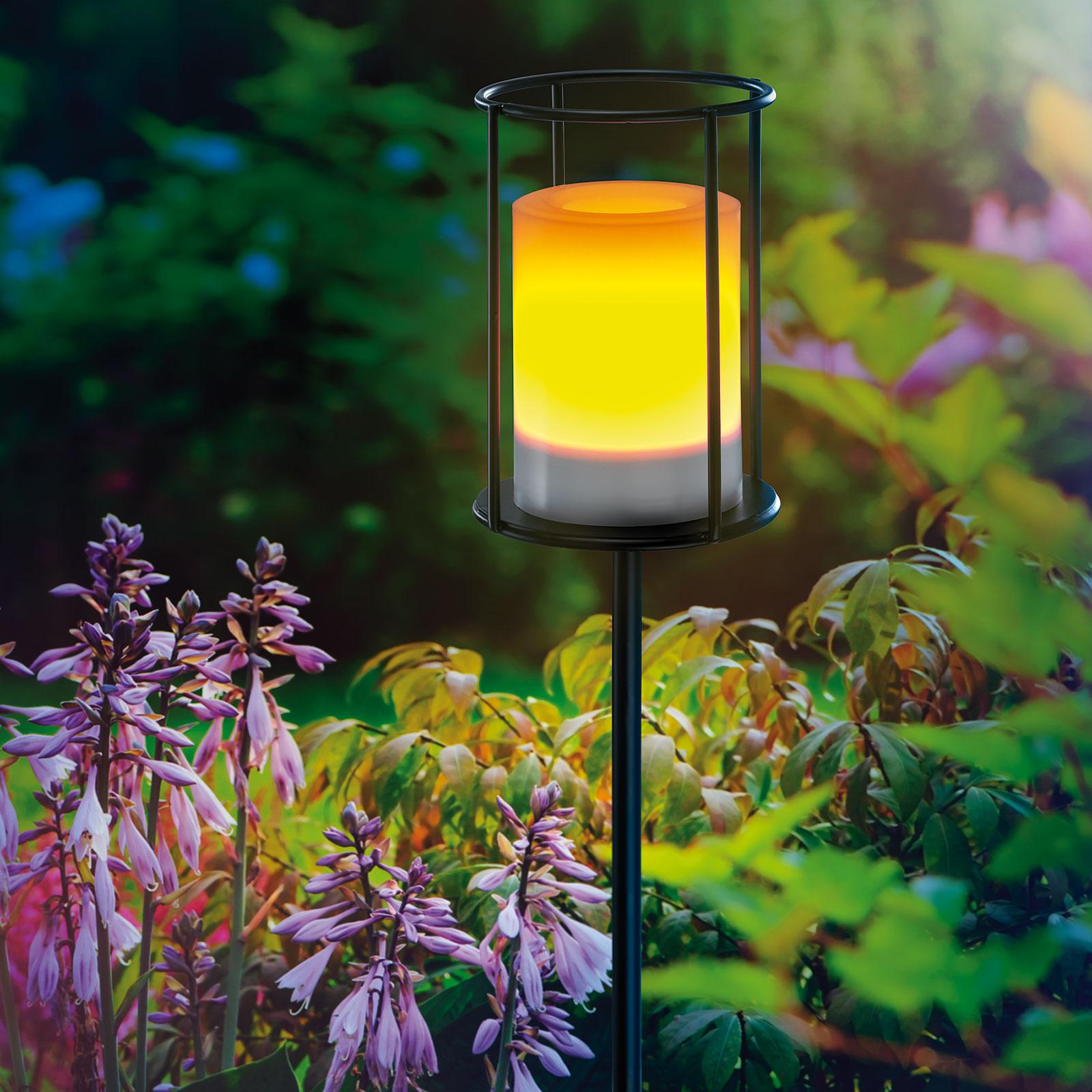 LED-Solarleuchte Fritzi mit Flackereffekt