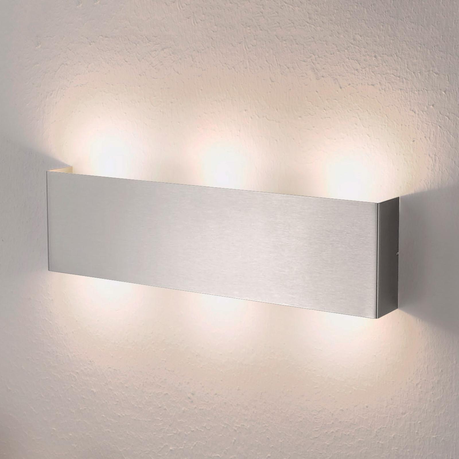Firkantet LED-vegglampe Maja, 38cm