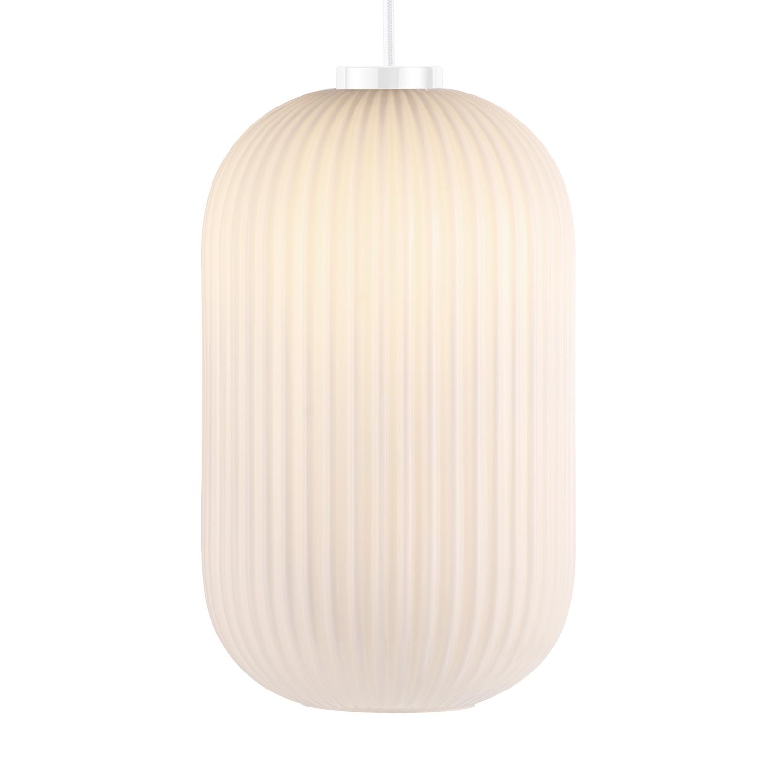 Hanglamp Milford 20 met gegroefde glazen kap