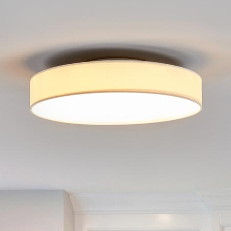 Lámpara de techo LED de tela Saira, 40 cm, blanco