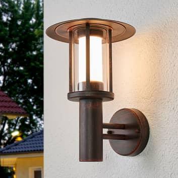 Rustfarvet LED udendørs væglampe Pavlos