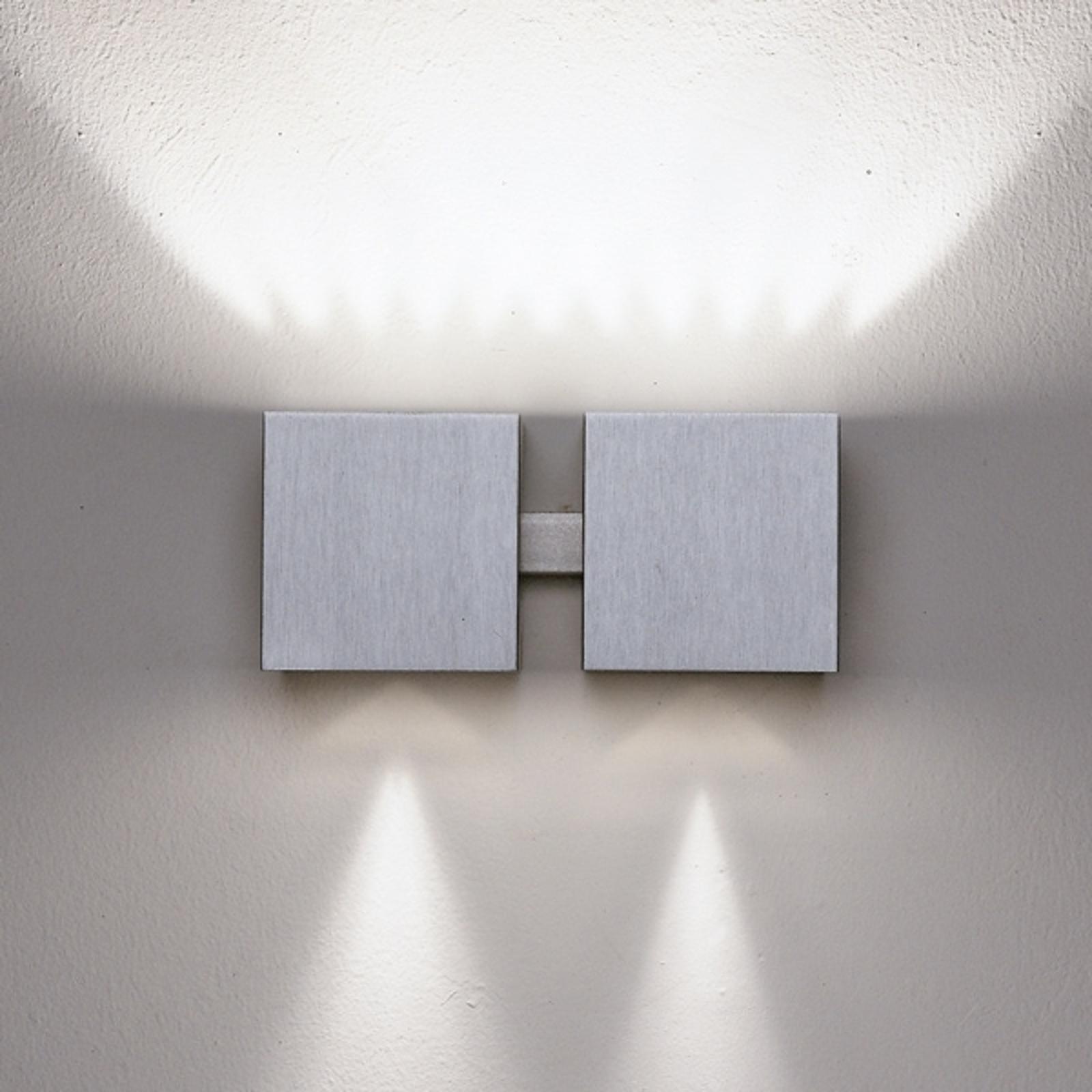 Wandlamp Dau up-down. aluminium. 2-lichts