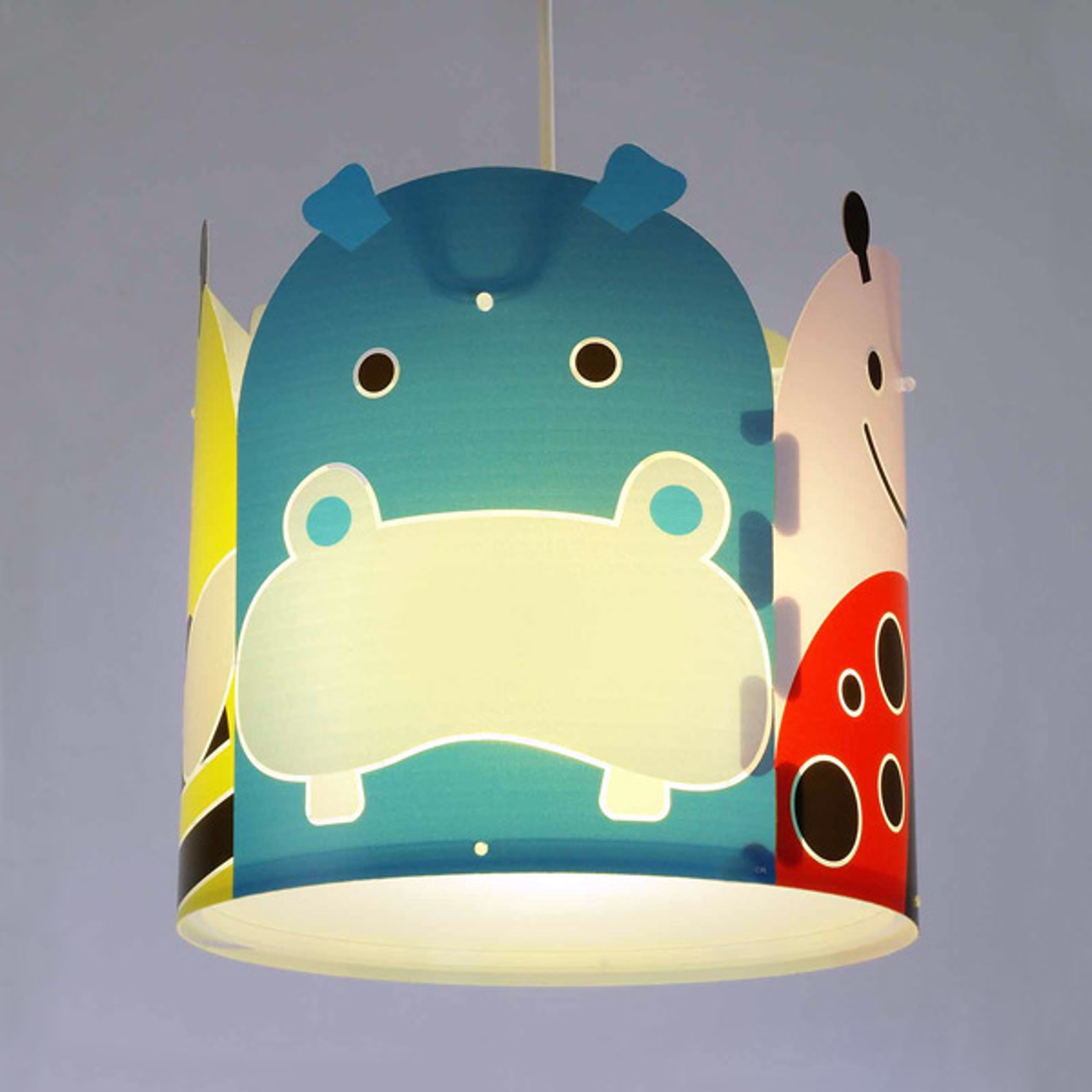 Dierenmotief-hanglamp Big Friends