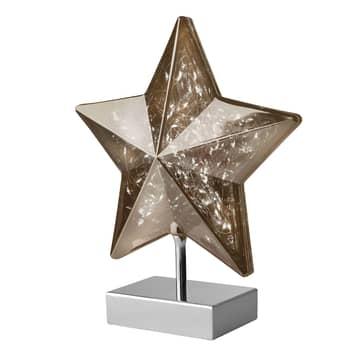 Pöytälamppu Stella tähtimuodossa
