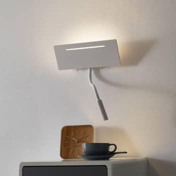 Ariel - weiße LED-Wandlampe mit Leseleuchte