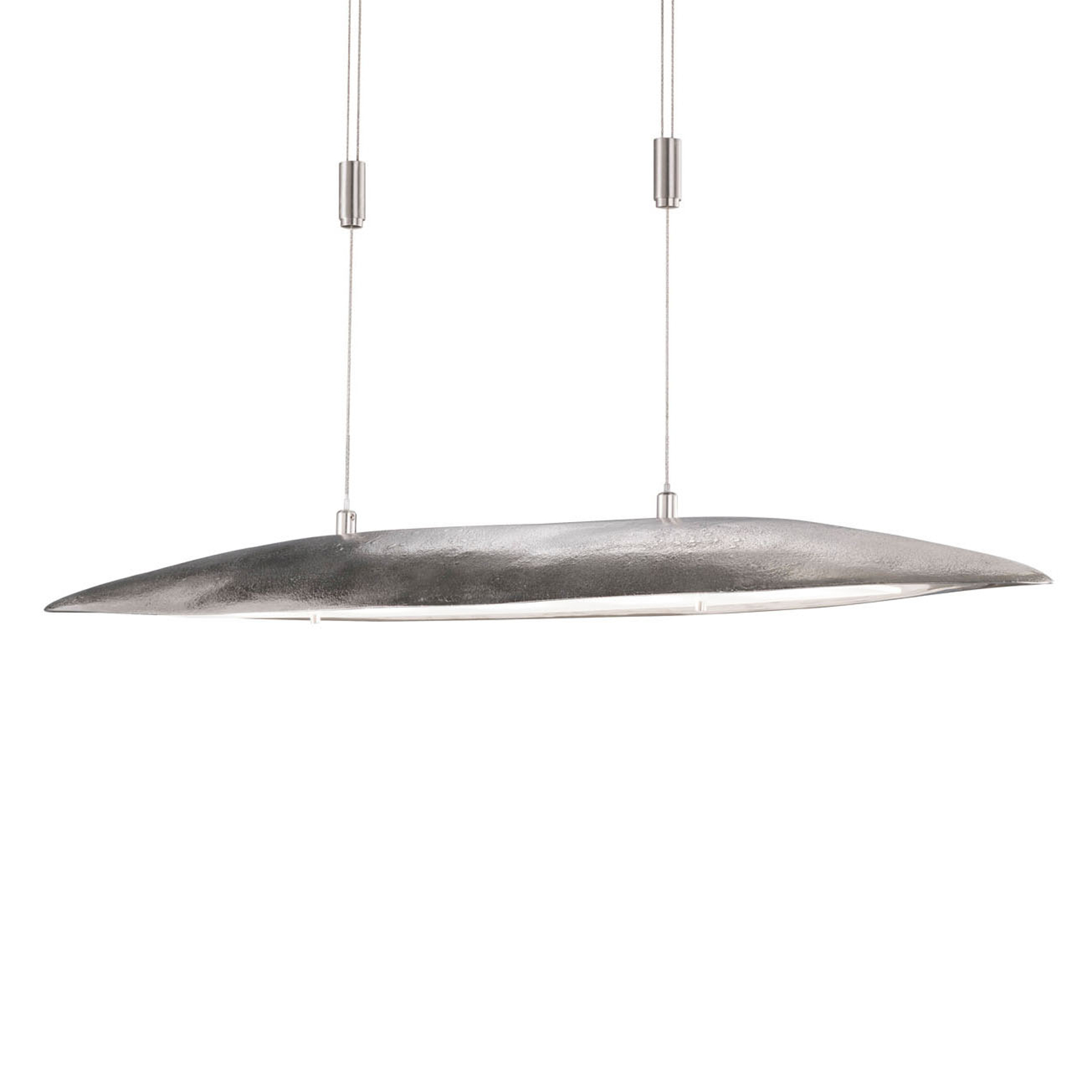 Suspension LED Colmar, longueur 98 cm, nickel