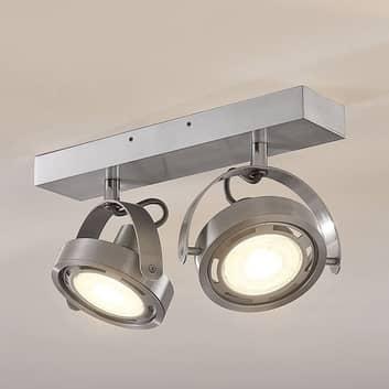 Faretto LED Munin dimmerabile, alluminio, 2 luce
