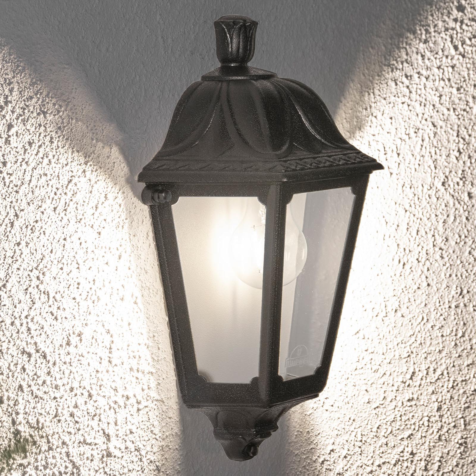 LED-vegglampe Iesse svart, saltvannsresistent