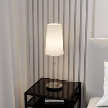 Lucande Pordis lampa stołowa, chromowo-biała
