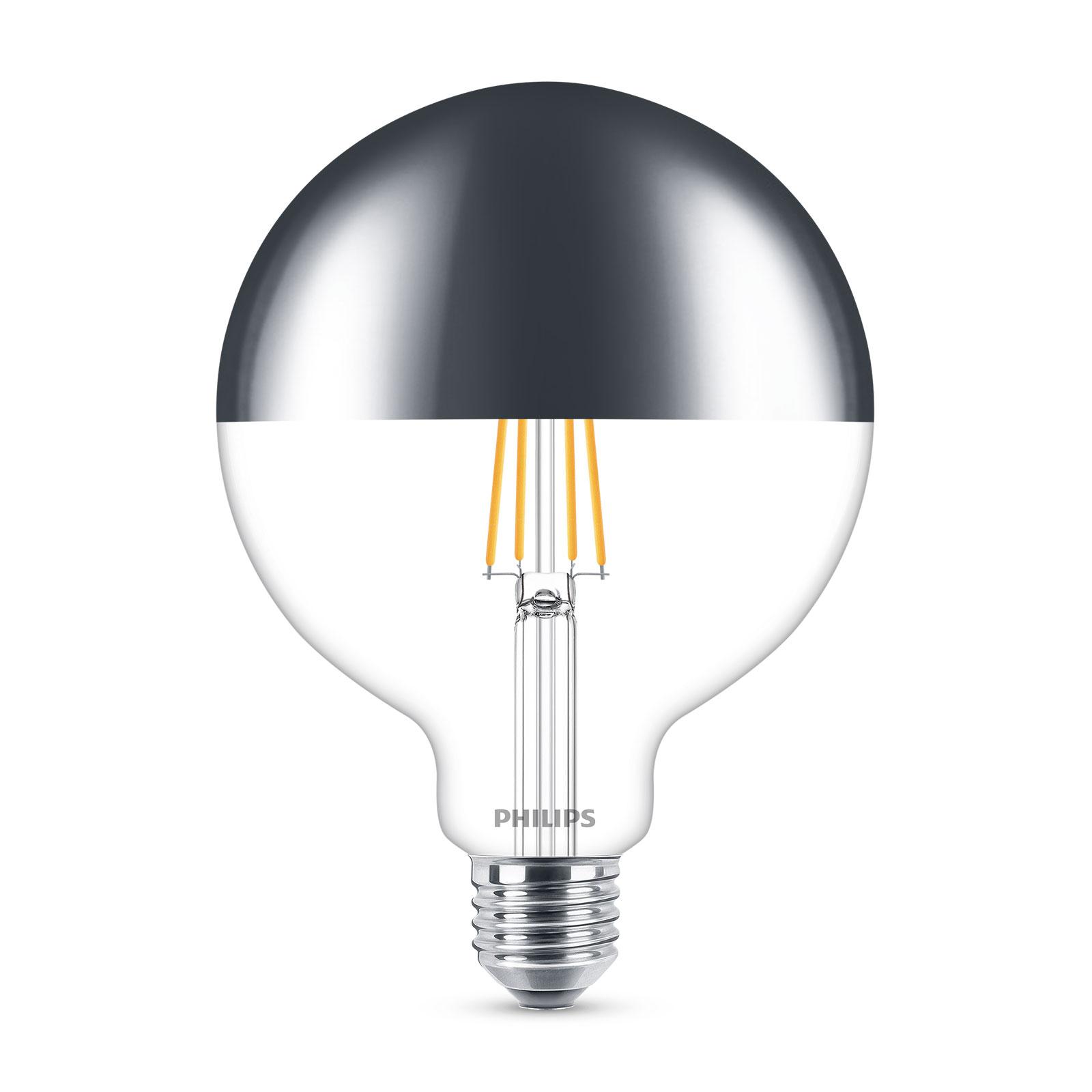 Philips LED-Globelampe E27 G120 7,2W Kopfspiegel