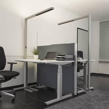 LED-Büro-Stehlampe Jolinda mit Sensor und Dimmer