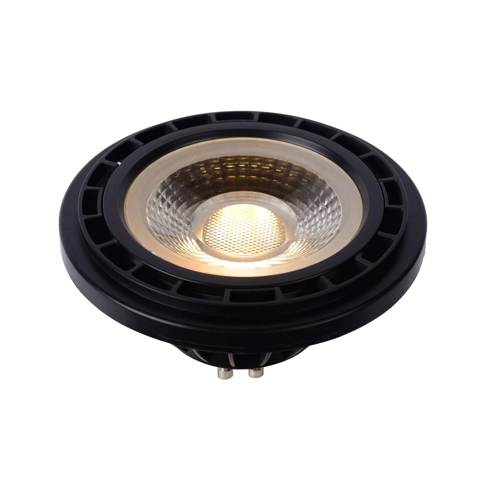 GU10 LED-reflektor 12W 3000K dim to warm, svart