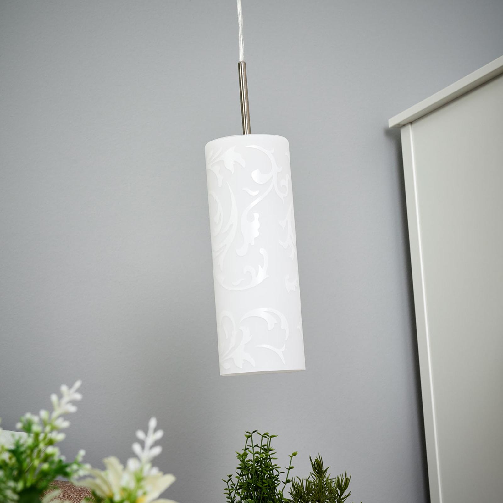 Lámpara colgante artística Amanda, 1 llama