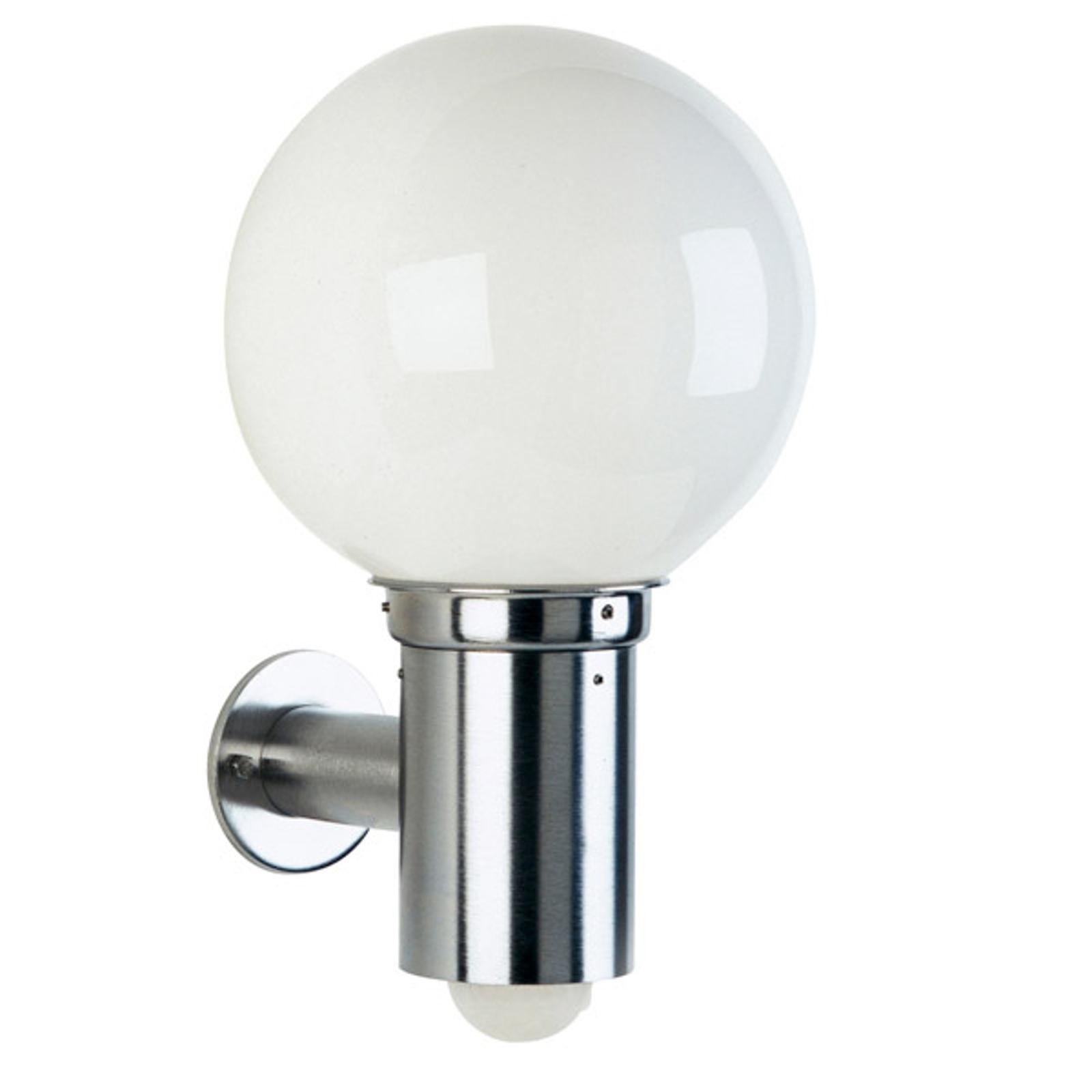 Kulista zewnętrzna lampa ścienna 157 z czujnikiem