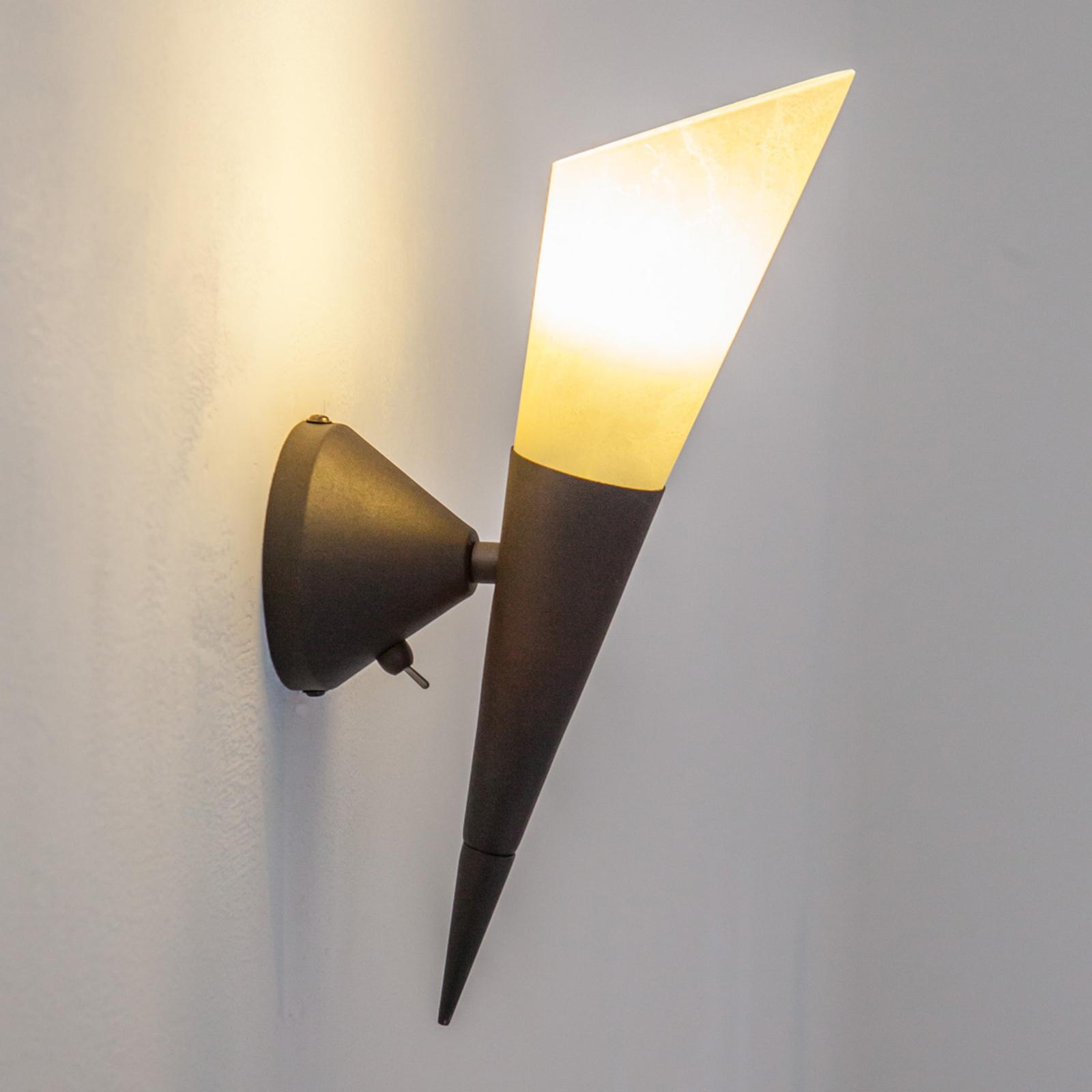 Vägglampa Alva med LED