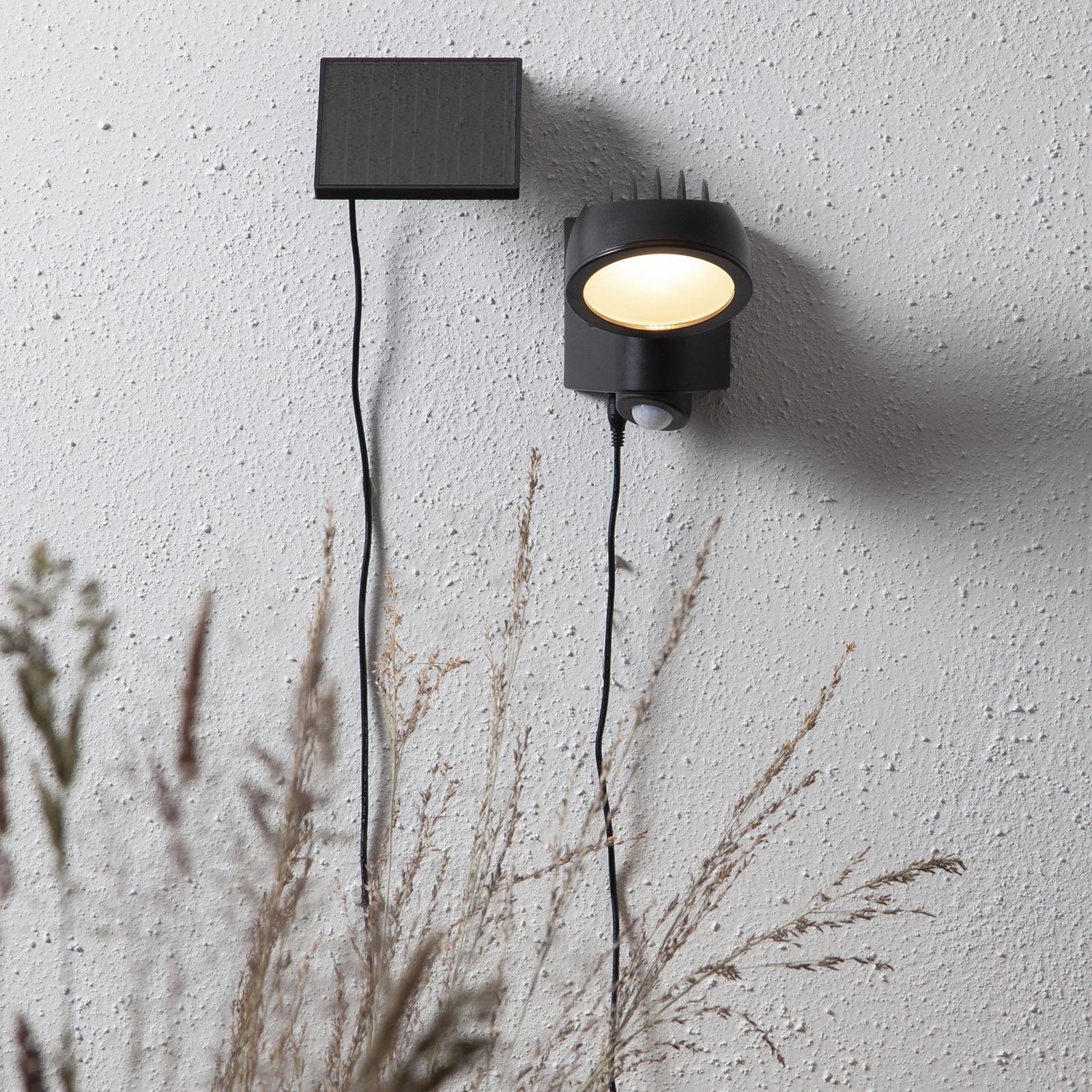 LED-solcellelampe Powerspot Senosr, rund, 150 lm
