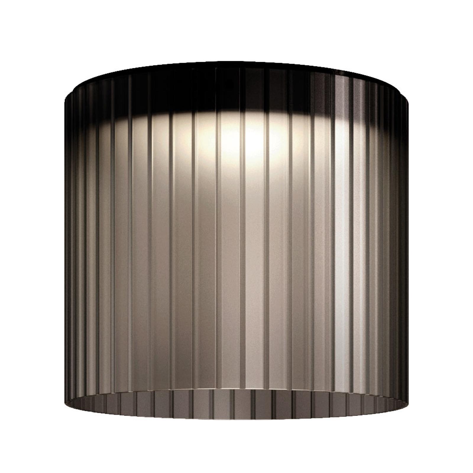 Kundalini Giass -LED-kattovalaisin Ø 40 cm harmaa