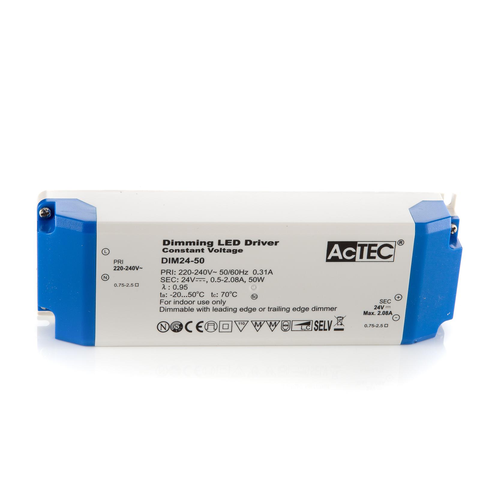 AcTEC DIM LED-driver CV 24V, 50 W, dimbar