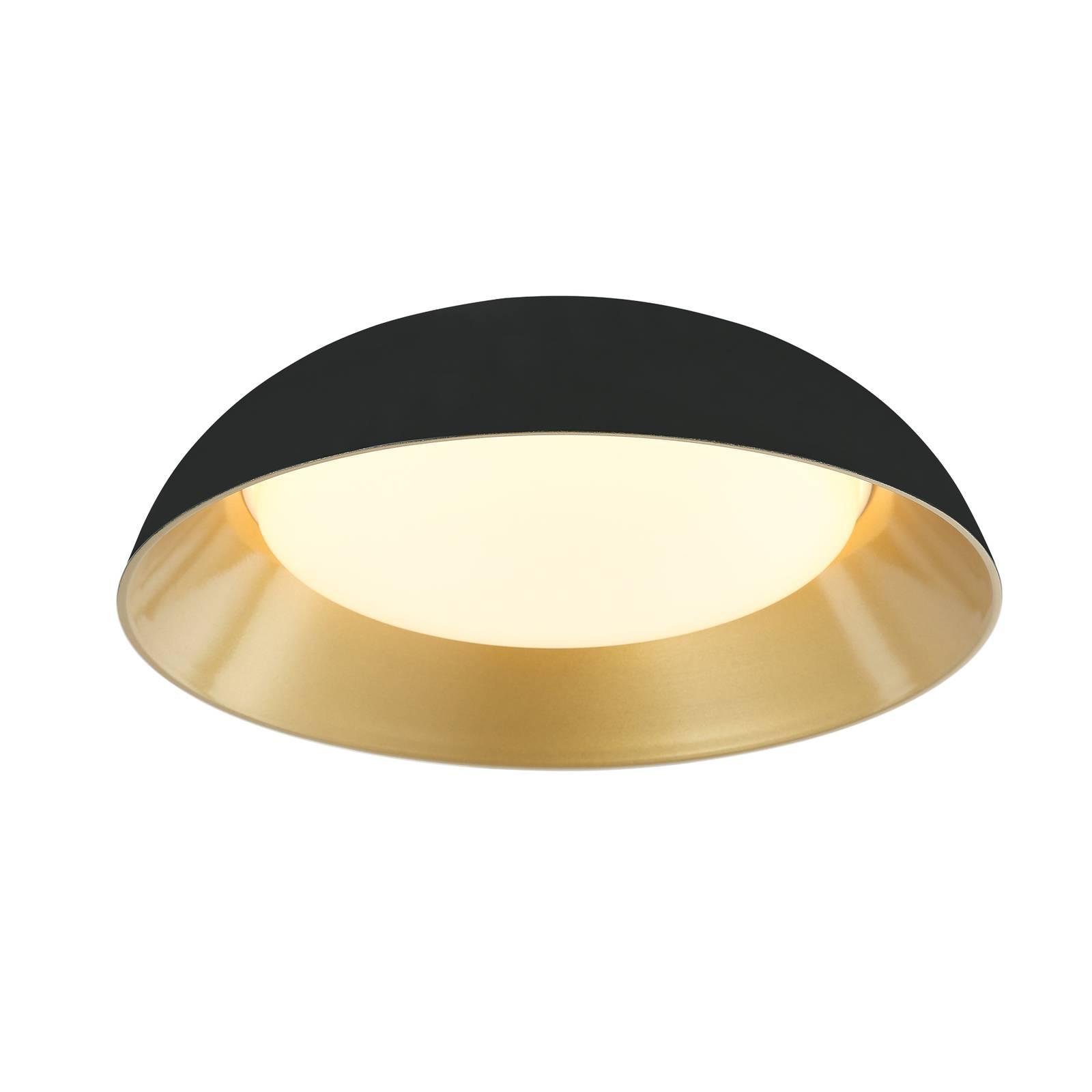 Lindby Lindby Juliven LED stropní svítidlo, černo-zlatá