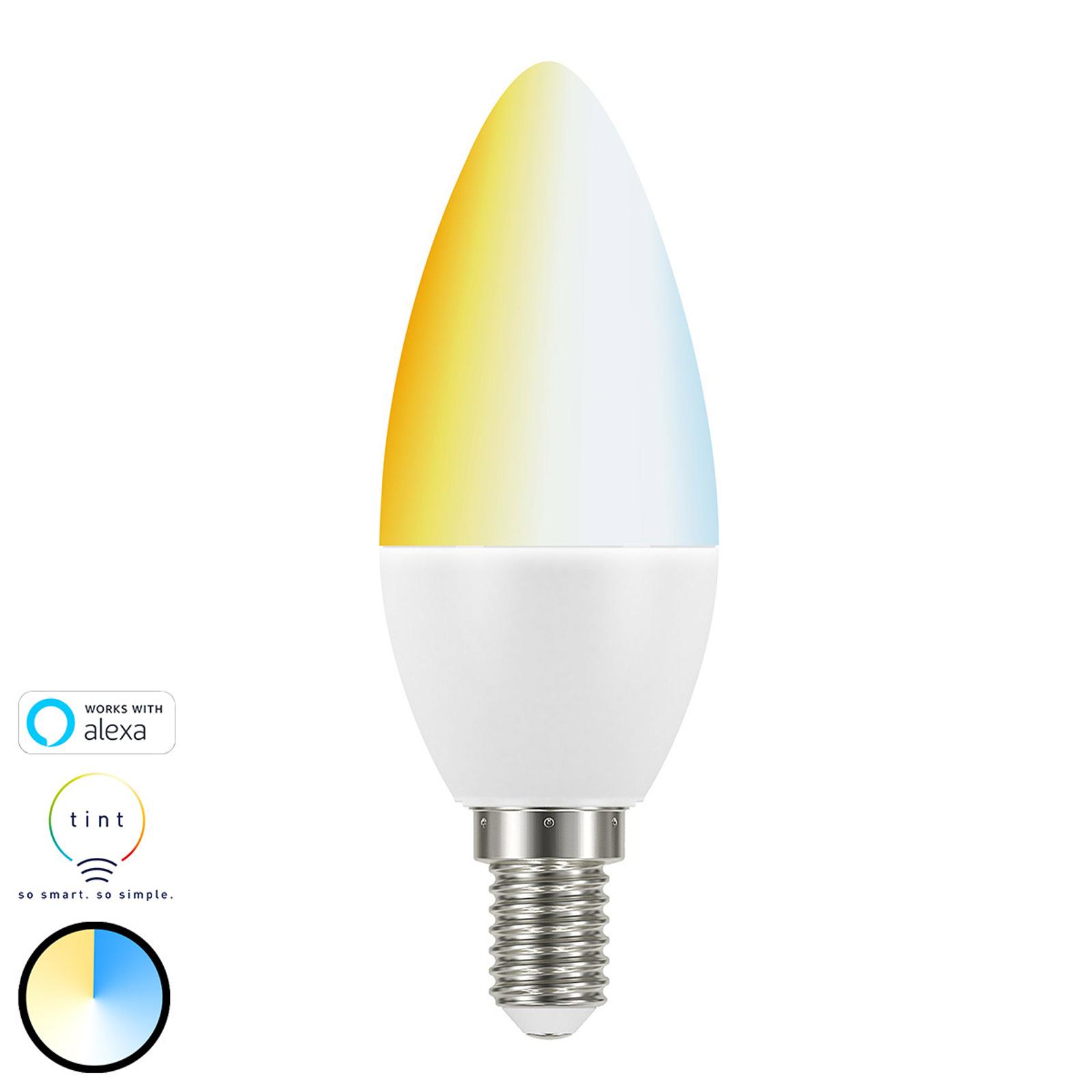 Müller Licht tint white LED-Kerzenlampe E14 5,8W