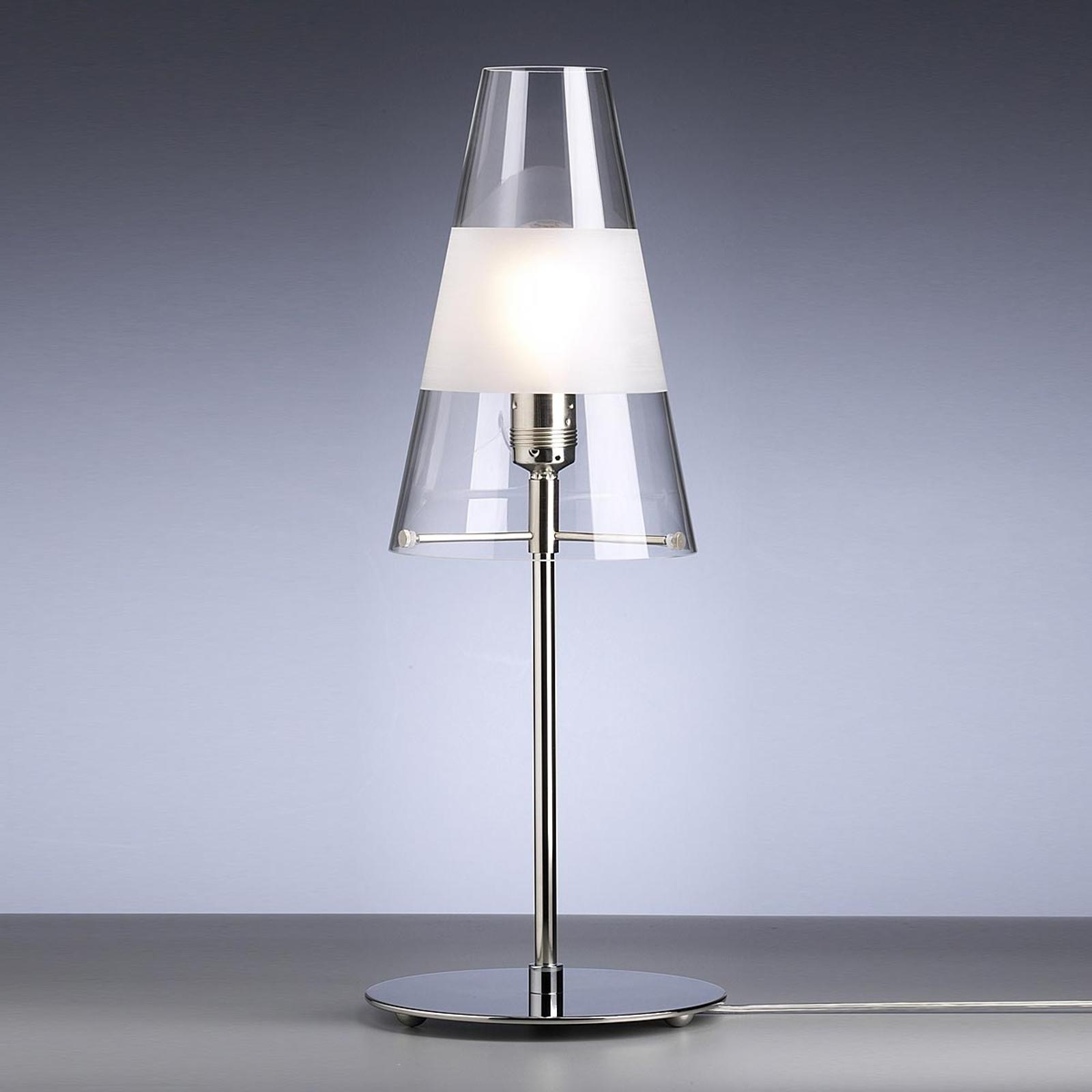 Tafellamp van Walter Schnepel, helder m. ring, mat