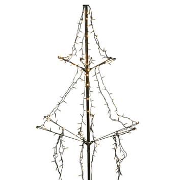 Albero LED con picchetto, 2 step, 240 luci 135 cm