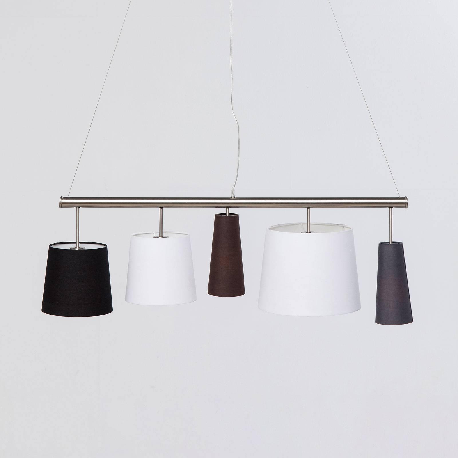 KARE Parecchi zilver hanglamp, zwart/wit