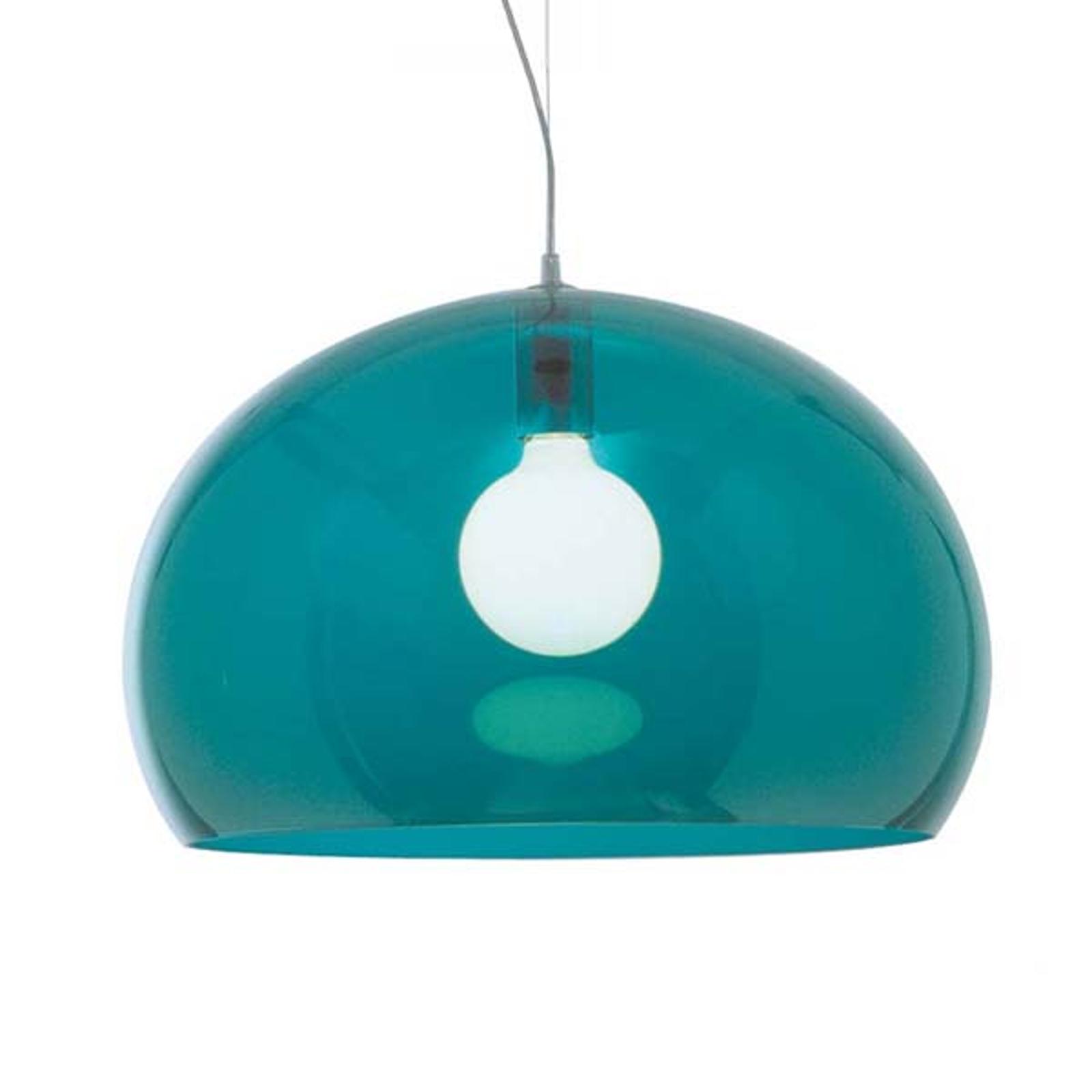Kartell FL/Y - LED-Hängeleuchte, petrolblau