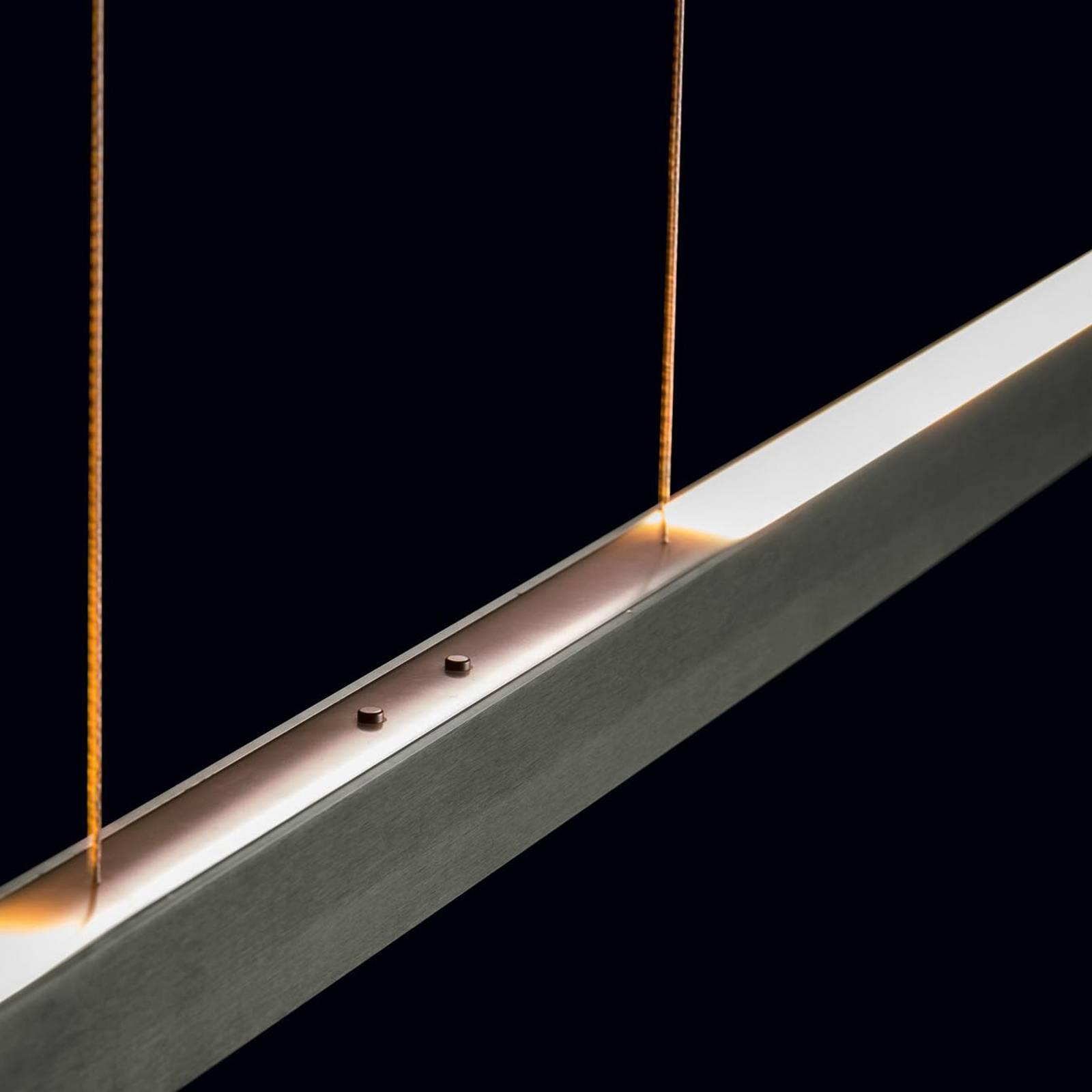 Holtkötter Xena S LED-Hängeleuchte, 120 cm, platin
