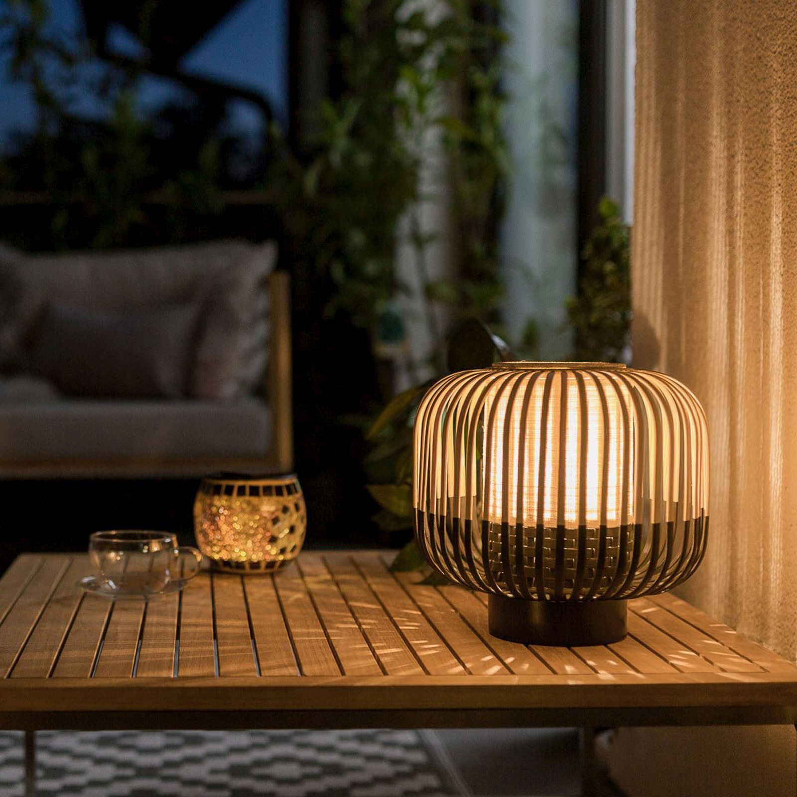 Forestier Bamboo Light M bordlampe 24 cm, sort
