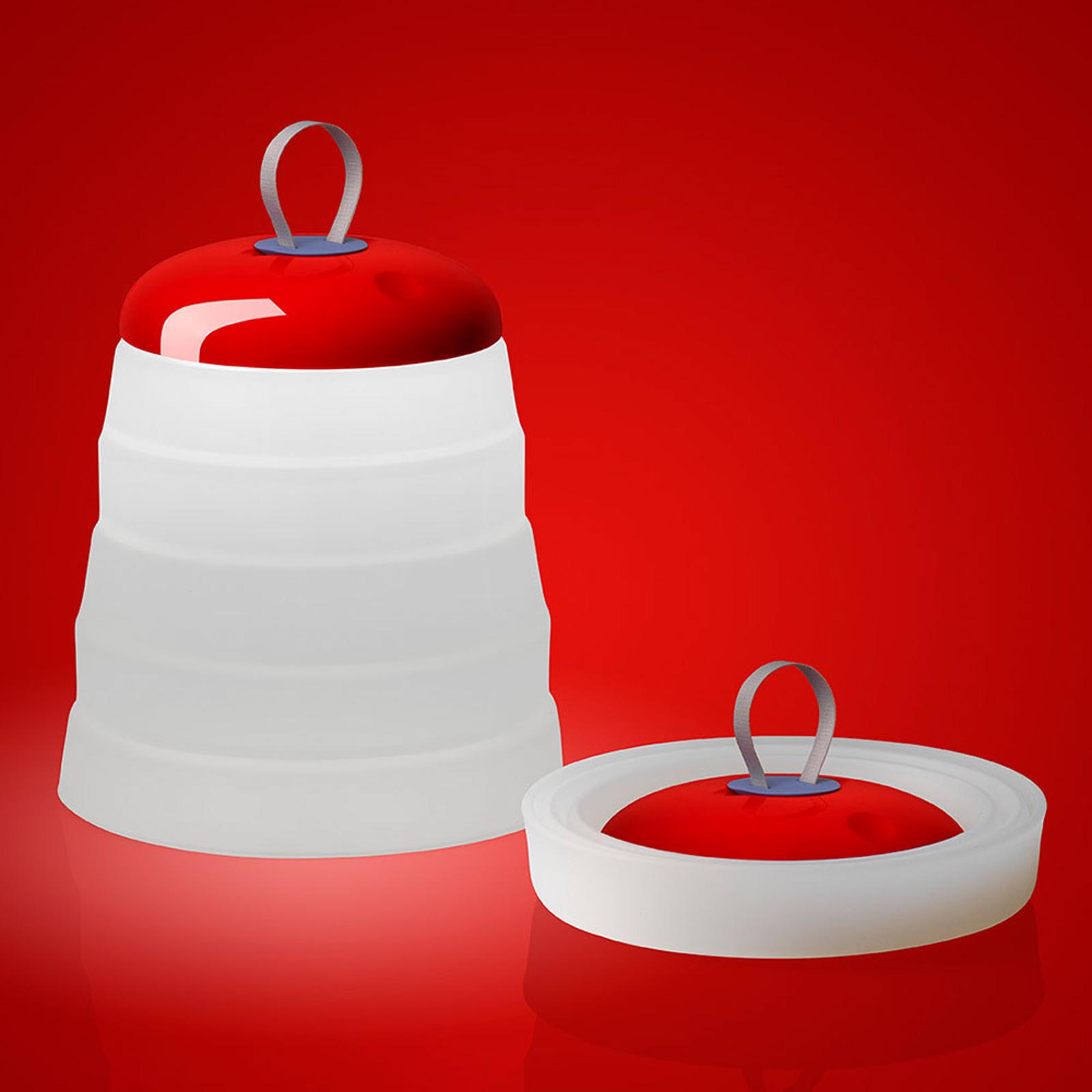 Foscarini Cri Cri LED-Außen-Dekoleuchte, rot