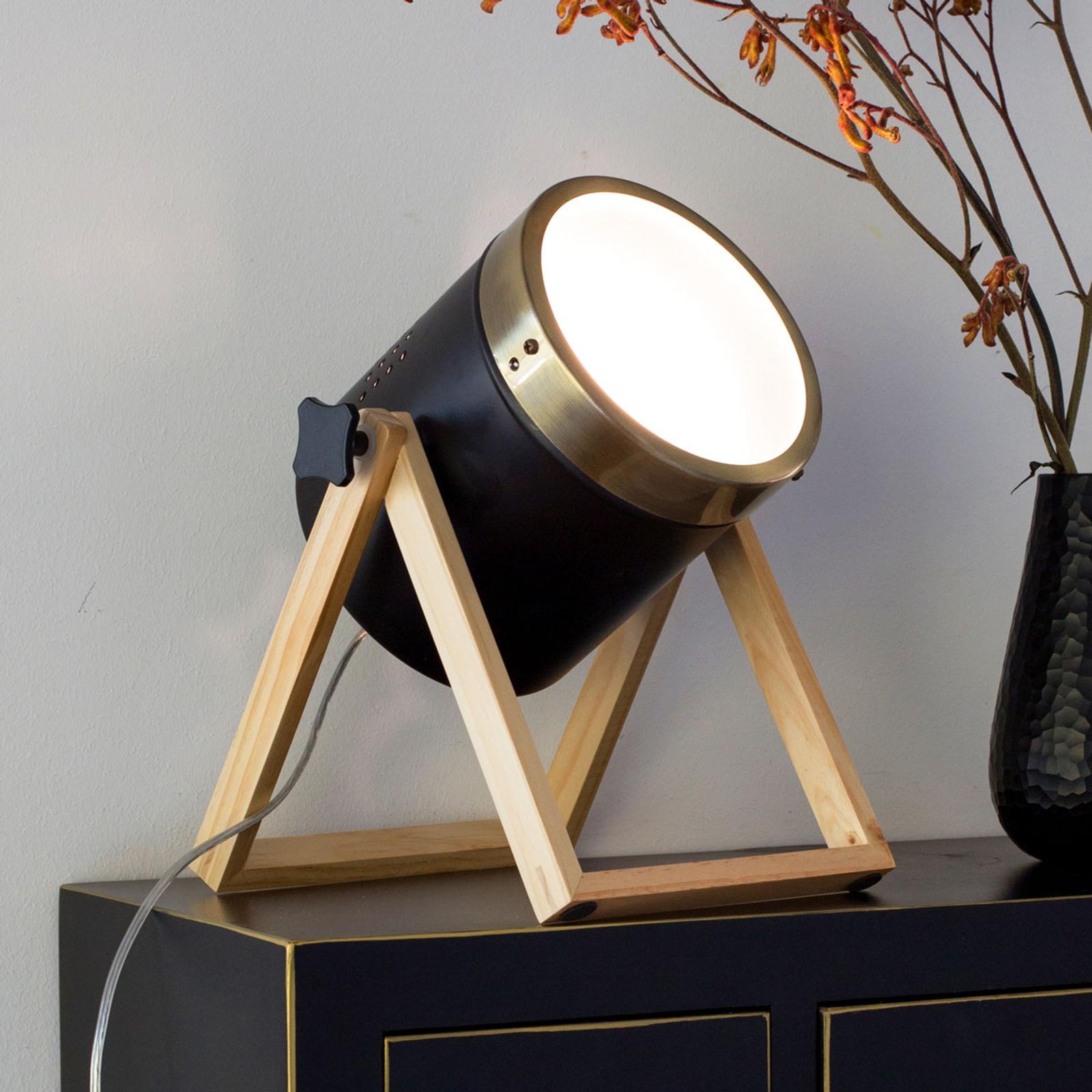 Tafellamp Tim zwart-goud