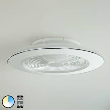 LED-takfläkt Alisio, styrbar via app, vit
