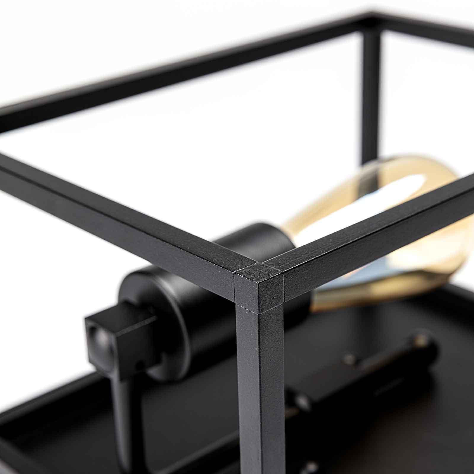 Wandleuchte Cubic³ 3385 schwarz, Breite 15 cm