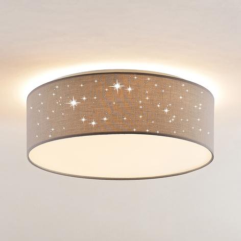 Lindby Ellamina LED-Deckenleuchte, 40 cm, hellgrau
