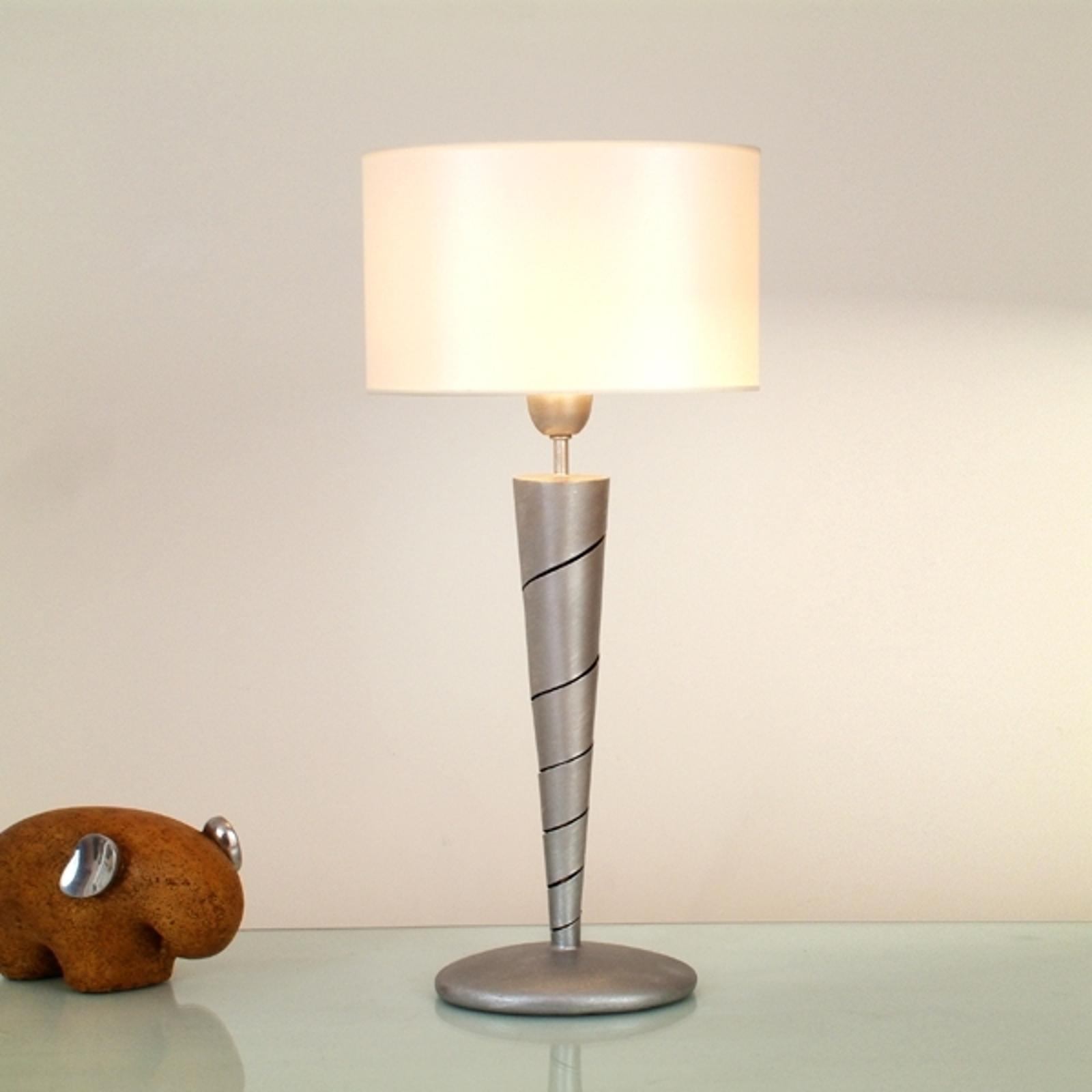 Magnifique lampe à poser INNOVAZIONE, fer, argenté