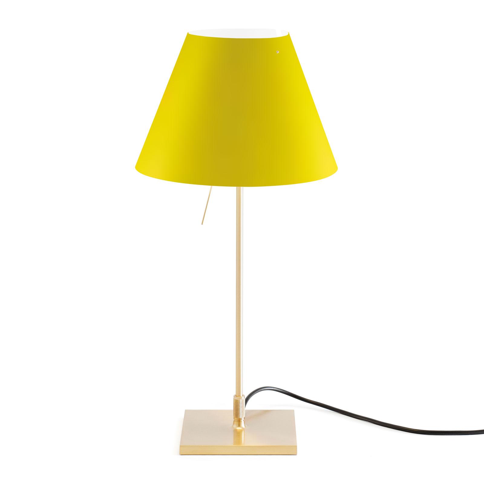 Luceplan Costanzina Tischlampe messing gelb