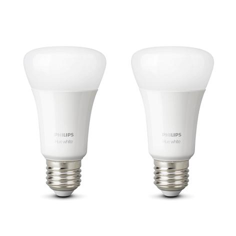 Philips Hue White 9W E27 LED lamp, 2per set