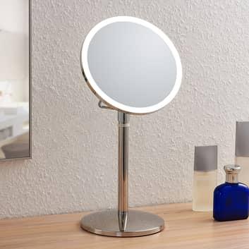 Lindby Farita espejo cosmético LED